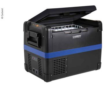 Kompressor-Kühlbox 12V/24V/220-240V, 50L, ca. 714x453x469mm, 22kg - Art.-nr. 71372